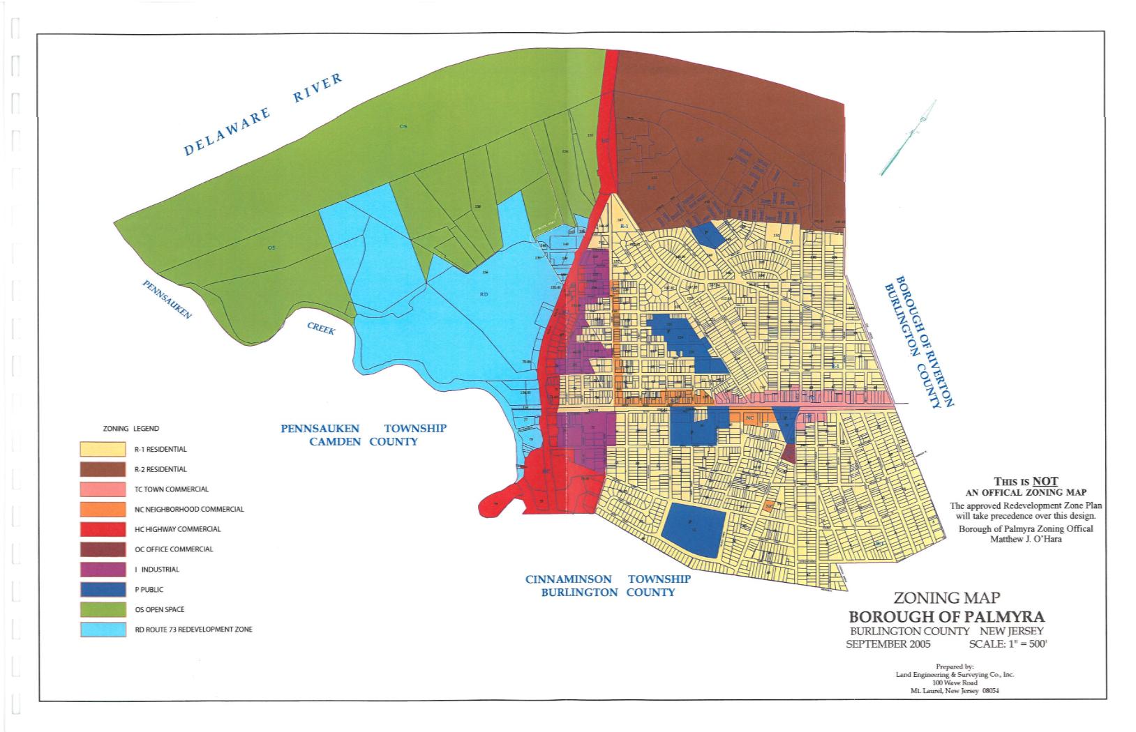 Zoning Land Use Board Borough Of Palmyra - Land height